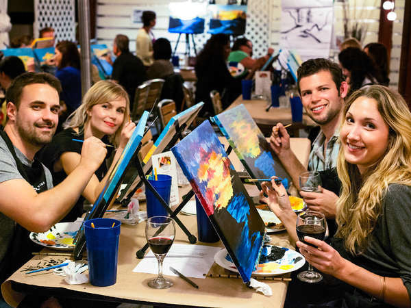 Paint Night with a Twist and Pop!