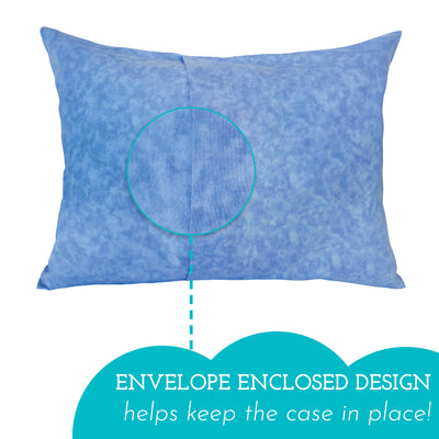 "Toddler Pillowcase <br> (13"" X 18"") - Blue Marble"