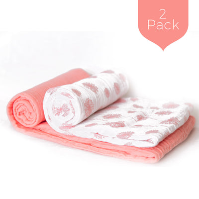 Coral Wishes Swaddle Set (2 Pack)