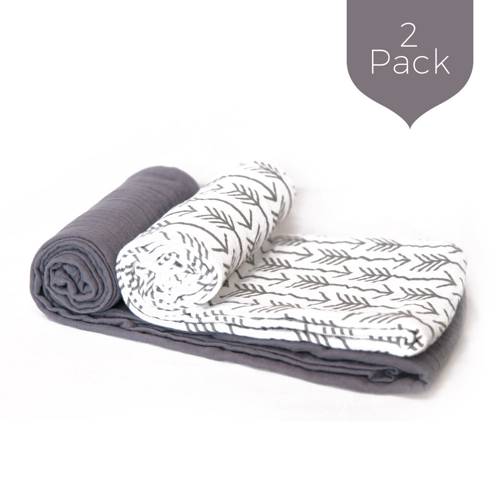 Gray Arrows Swaddle Set (2 Pack)