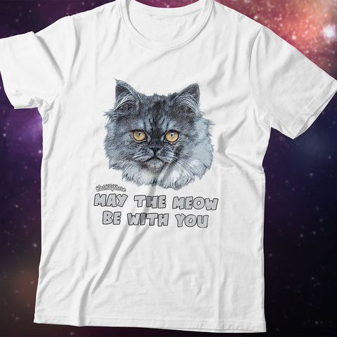 "T-Shirt ""May the Meow Be With You"""