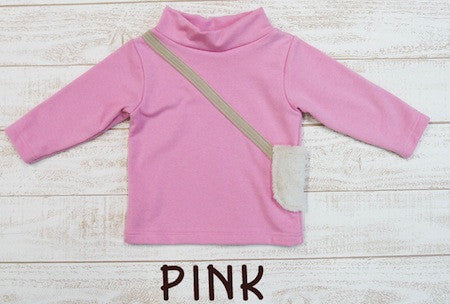 Long Sleeve Shirt w/ Fur pocket - 4129 pink
