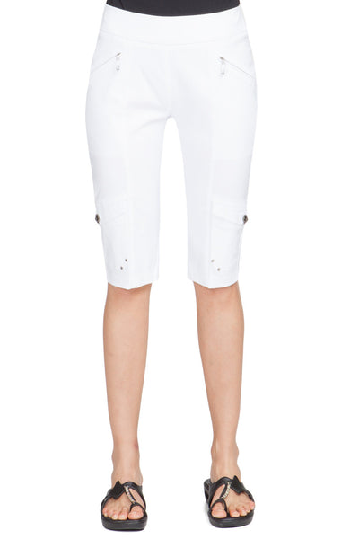 Womens Jamie Sadock Skinnylicious Knee Capri in White - North Shore Golf Centre - 1
