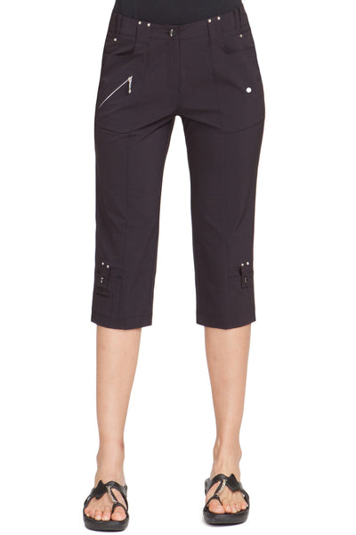 Womens Jamie Sadock Airwear Pedal Pusher Black - North Shore Golf Centre - 1