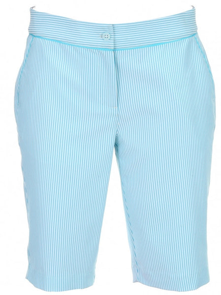 Womens Greg Norman Stripe Short - North Shore Golf Centre