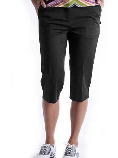 Womens Birdee Slide On Short in Black - North Shore Golf Centre