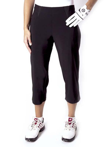 Womens Birdee Slide On Capri in Black - North Shore Golf Centre