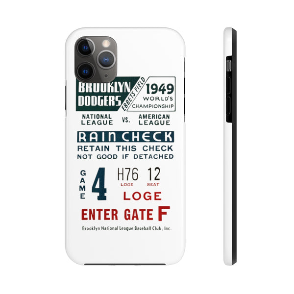 """1949 Brooklyn Baseball"" Tough Phone Cases"