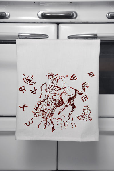 """Bucking Johnny"" Cotton Dishtowel"