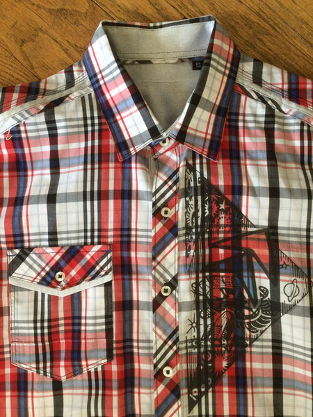 """Rocket"" Men's Short Sleeve Button Down Shirt"