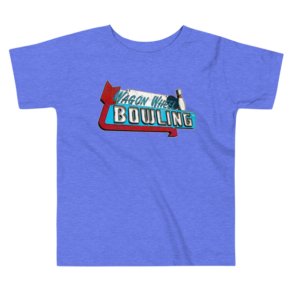 """Wagon Wheel Bowling"" Baby & Toddler Short Sleeve Tee"