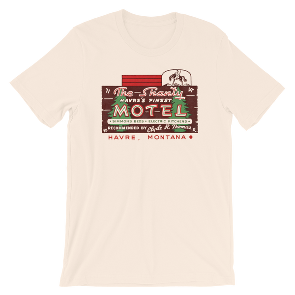 """The Shanty Motel""  Men's Short-Sleeve T-Shirt"