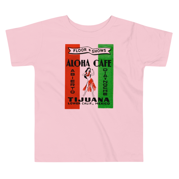 """Aloha Cafe"" Baby & Toddler Short Sleeve Tee"
