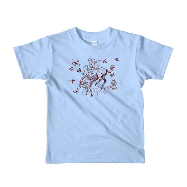 """Bucking Johnny"" Kids & Youth Short Sleeve T-shirt"