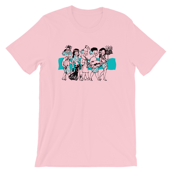 """Luau Party"" Men's Short-Sleeve T-Shirt"