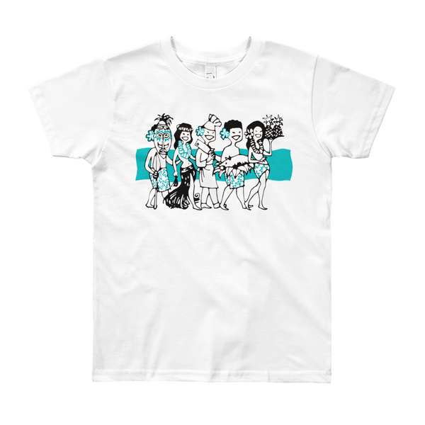 """Luau Party"" Kids & Youth Short Sleeve T-Shirt"