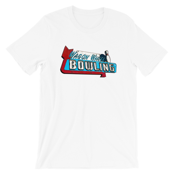 """Wagon Wheel Bowling"" Men's Short-Sleeve T-Shirt"