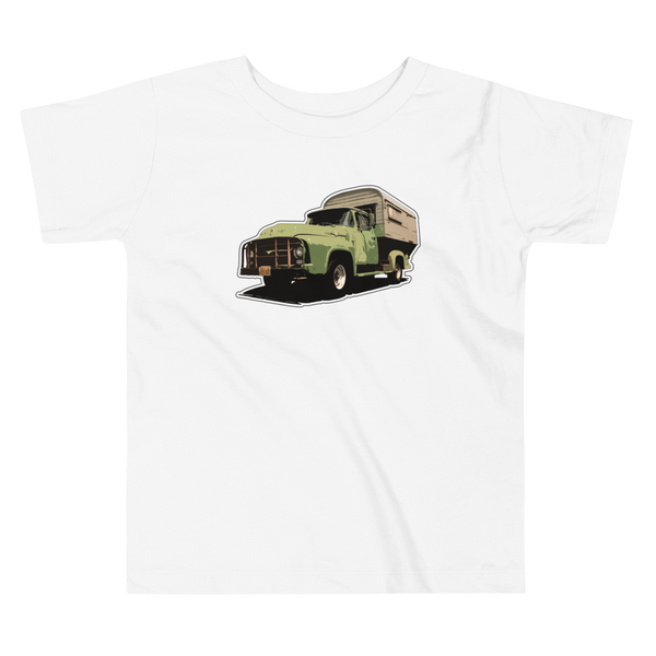 """Camper Truck"" Baby & Toddler Short Sleeve Tee"