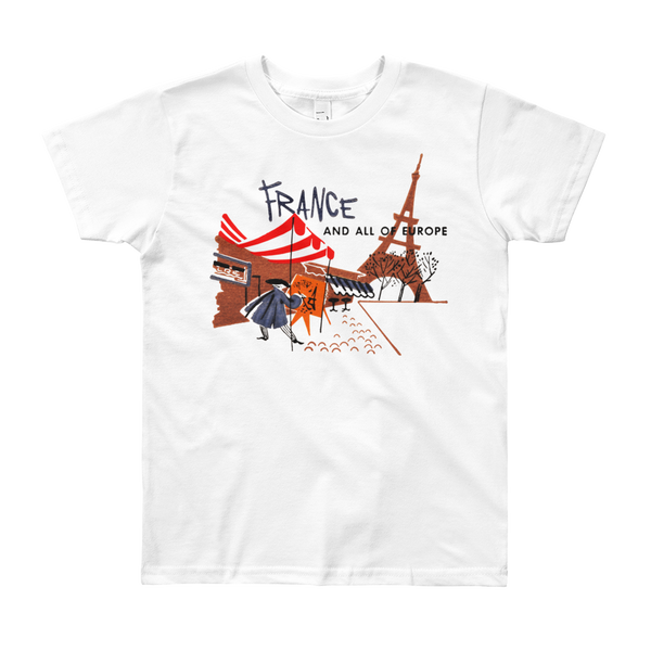 """France"" Kids & Youth Short Sleeve T-Shirt"