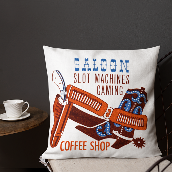 """Pony Express Saloon"" Premium Pillow"