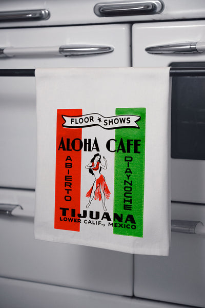 """Aloha Cafe"" Cotton Dishtowel"