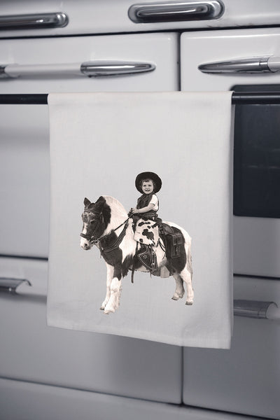 """Donna & Pony"" Cotton Dish Towel"