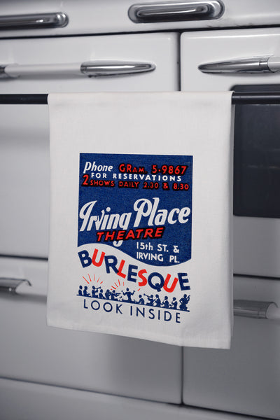 """Irving Place Theatre"" Cotton Dishtowel"