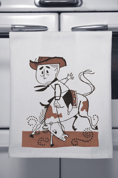 """Lil Rodeo"" Cotton Dishtowel"