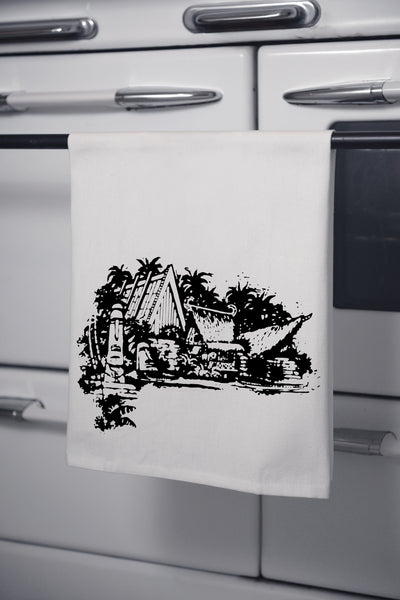 """Mai Kai Village"" Cotton Dishtowel"