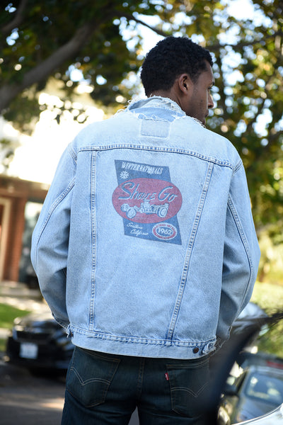 """Winternationals"" Custom Printed Vintage Denim Jacket"