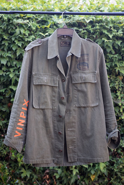 """Foreman Phillips"" Vintage Military Field Jacket"