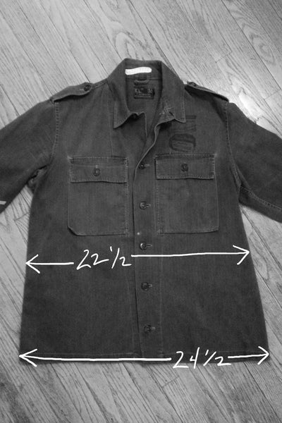 """Foreman Phillips"" Custom Printed Vintage Military Field Jacket"