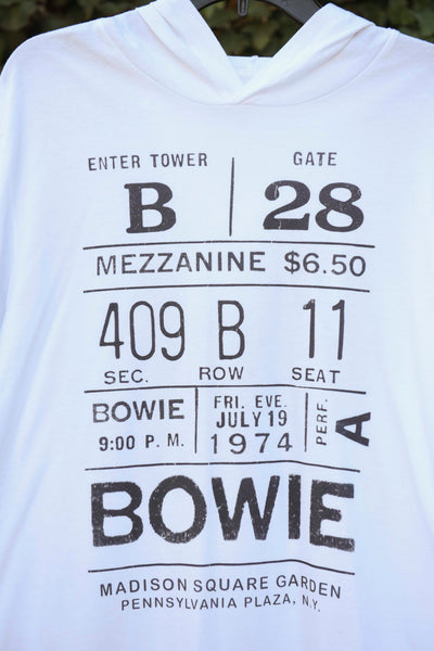 """Bowie Ticket"" Light Cotton Hoodie"