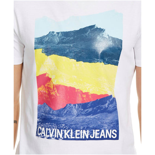 Calvin Klein Jeans Men's Andy Warhol Stacked Mountain Graphic T-shirt-Apparel-Calvin Klein-Small-eshopping