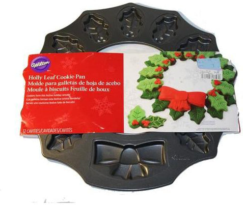 Christmas Holly Leaf Cookie Pan-Pan-eshopping-eshopping
