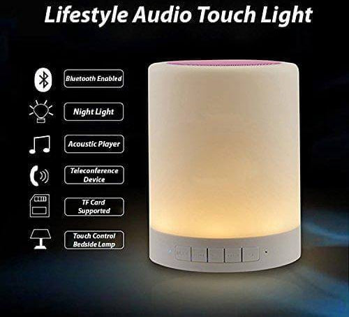Cyber Frame Night Light With Bluetooth Speaker, Touch Control Led Bedside Table Lamp, Speakerphone / Tf Card/ Aux-In Supported-Electronics-Cyber Frame-eshopping