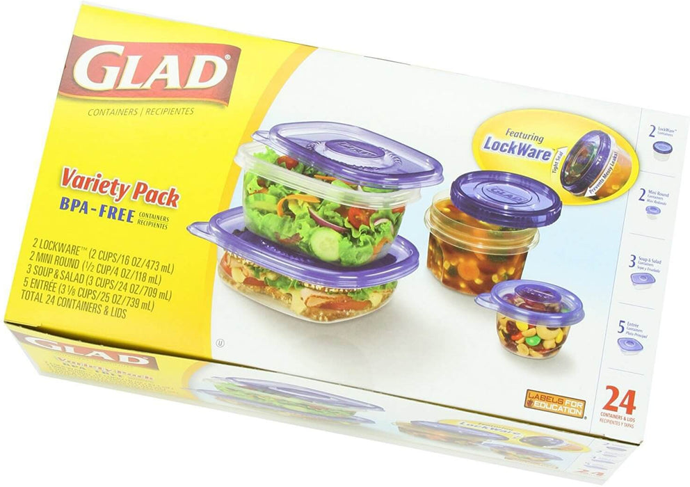 Glad 24 Pc Containers & Lids-Storage & Containers-Glad-eshopping