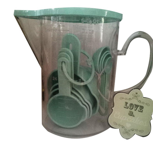 Green Measuring Cup Spoon Pitcher Set New-Measuring Cup-eshopping-eshopping