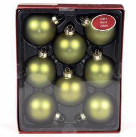 Holiday Living 8-Pack Green Matte Glass Ornament Set-Accessories-eshopping-eshopping