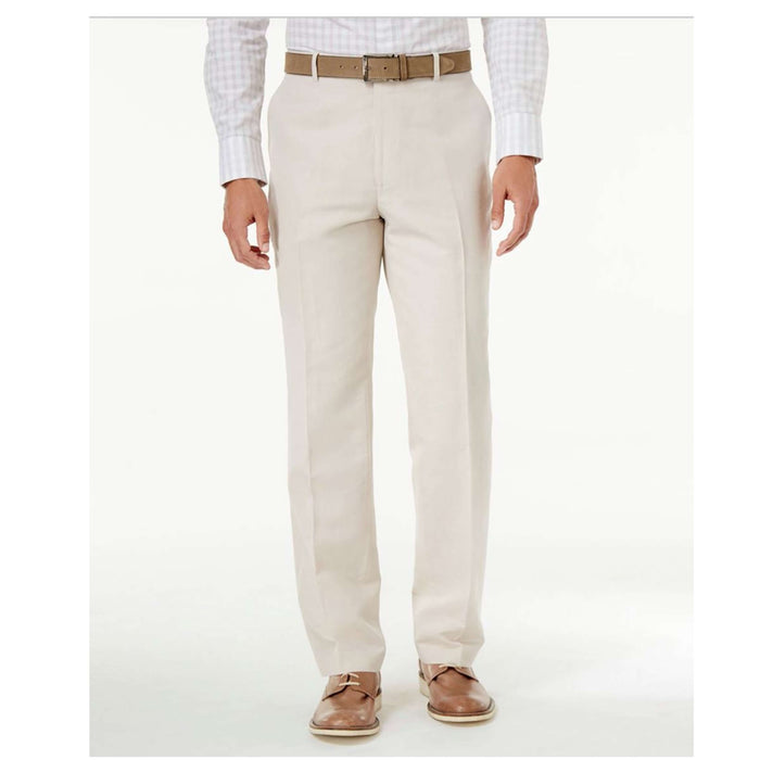 INC Men's Linen-Blend Dress Pants-Apparel-Macy's-32W x 32L-Cream-eshopping