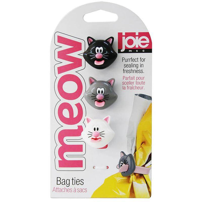 Joie Meow Bag Ties, Silicone, MSC International 12415 Set of 3-Bag Ties-Joie-eshopping