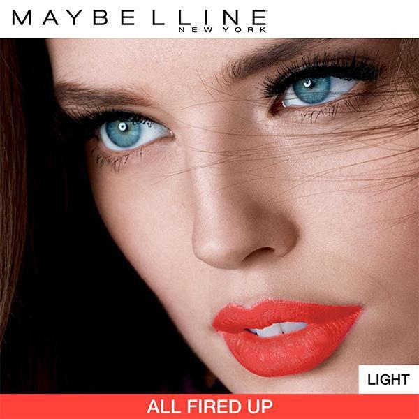 Maybelline Color Sensational Creamy Matte Lipstick, All Fired Up, 0.15 oz-Lipstick-Maybelline-eshopping