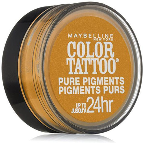 Maybelline New York Eye Studio Color Tattoo Pure Pigments, # 25 Wild Gold-Eye Shadow-Maybelline-eshopping