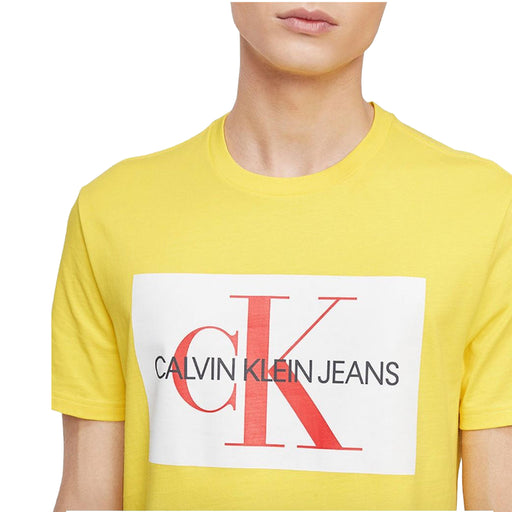 Men's Monogram Logo-Print T-Shirt, (Yellow)-Apparel-Macy's-Small-eshopping