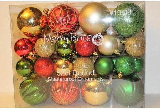 Merry Bright 52ct Round Shatterproof Ornament-Ornaments-eshopping-eshopping