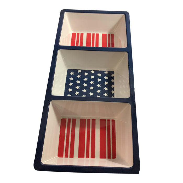 Red, White, & Blue Party Tray-Kitchen Tools & Gadgets-Cole Haan-Melamine-eshopping