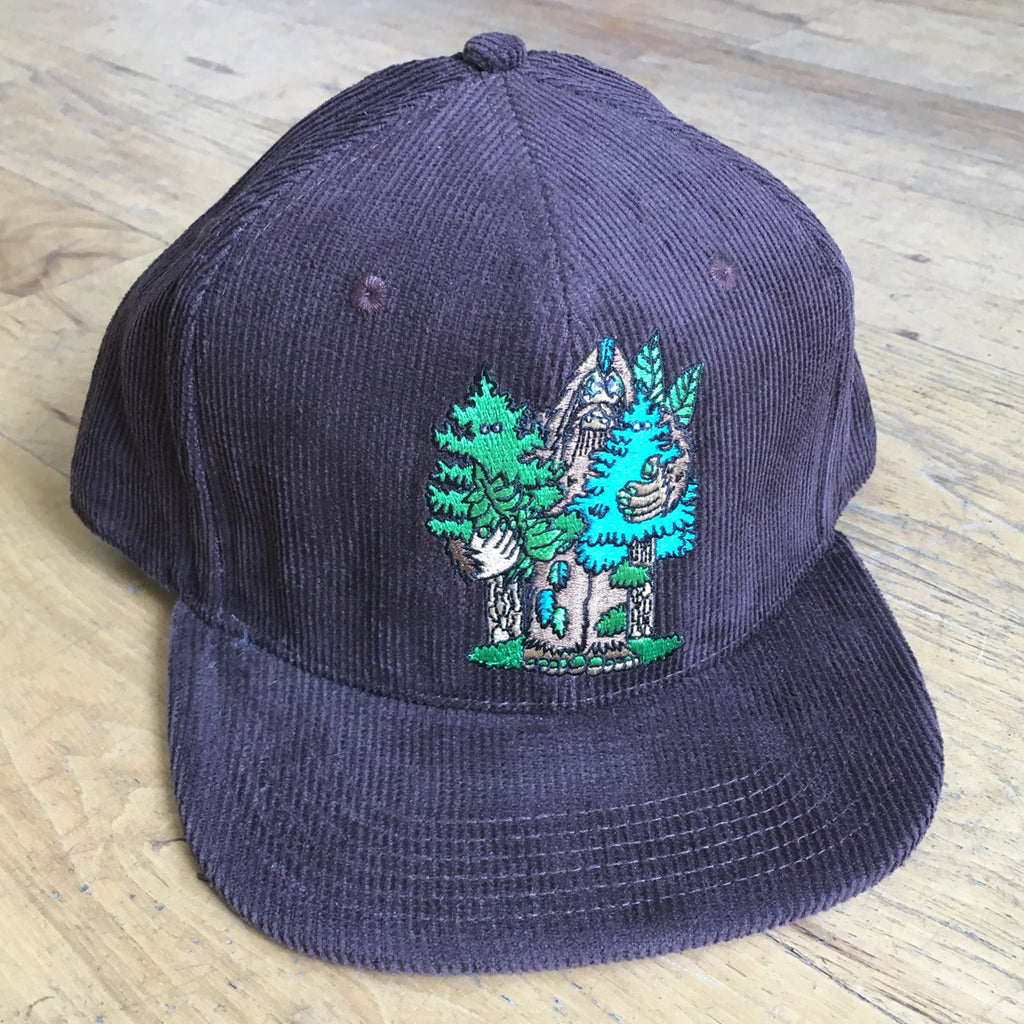 Bigfoot Corduroy Snapback Hat