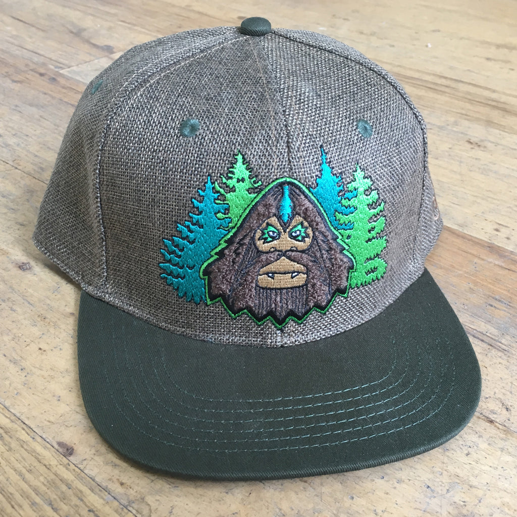 Bigfoot Chenille Hemp Snapback Hat