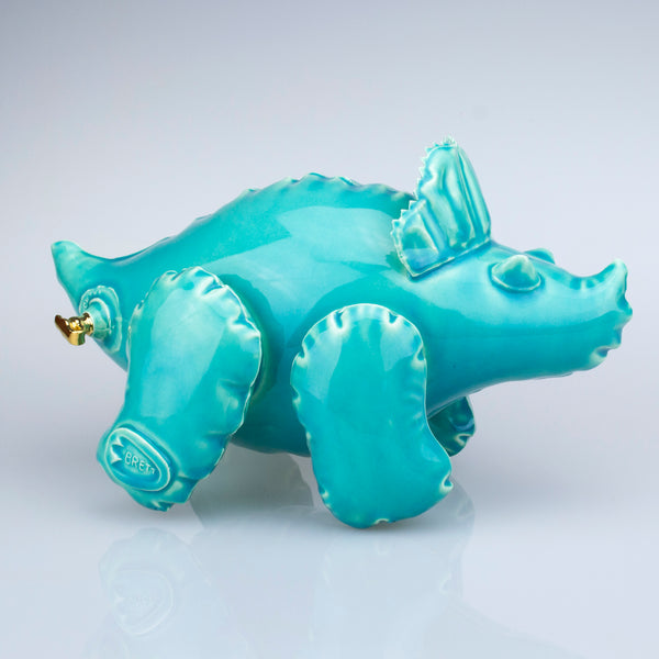 "Brett Kern ""Inflatable Triceratops"" (Turquoise)"