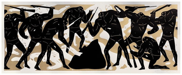 "Cleon Peterson ""Burning The Dead"" (Gold)"